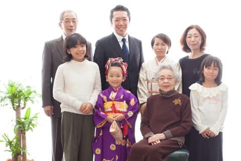 家族写真 七五三
